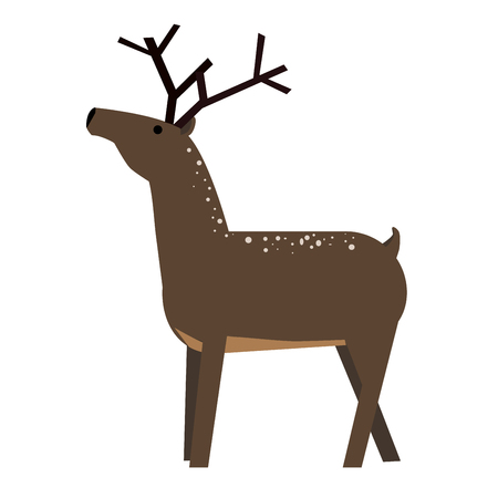 white tail deer: Cute cartoon deer. Vector Illustration isolated on background Illustration