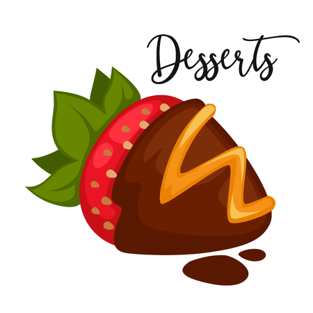 porcion de torta: postre dulce delicioso. aislado de la ilustración de dibujos animados. Vectores
