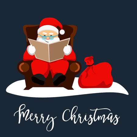 Santa Clause ready for christmas. Illustration isolated