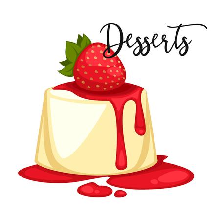 Delicious sweet dessert. cartoon Illustration isolated. Illustration