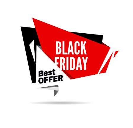 reductions: Black Friday sale design template. Black Friday banner. Vector illustration