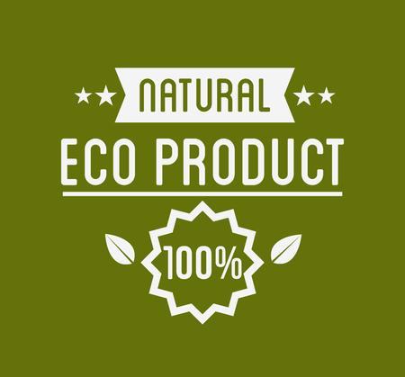Organic Product , Guaranteed Label or Badge. Vector Illustration.
