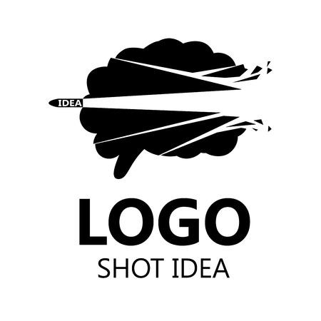 Brain silhouette design vector template. Brainstorm think idea. Vector Illustration. Illustration