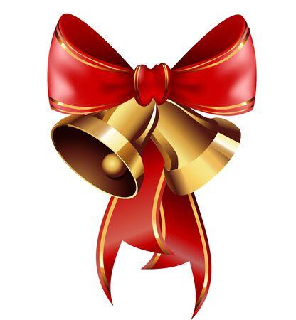 jingle bells: Jingle bells with red bow . Vector illustration Illustration