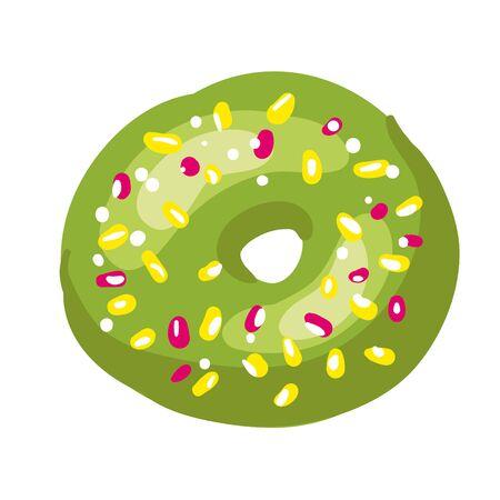 Tasty donut. Vector Illustration. Isolated on white. Illustration