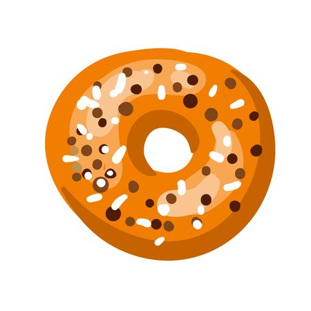 Tasty donut. Vector Illustration. Isolated on white. Illustration
