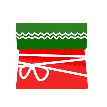 motivos navideños: Christmas gift box for holiday. Vector Illustration.