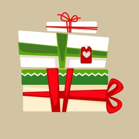 Christmas gift box for holiday. Vector Illustration.
