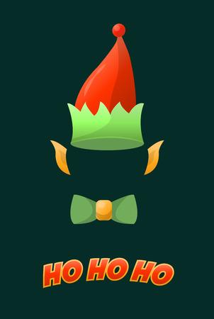 christmas costume: Christmas elf hat holiday costume. vector illustration Illustration
