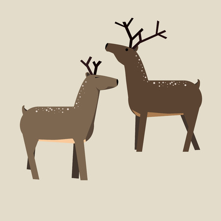 Cute cartoon deer. Vector Illustration isolated on background Illustration