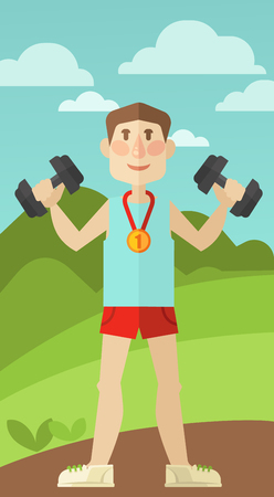 medical symbol: Healthy lifestyle. Vector wellness concept