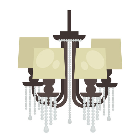 interior decoration: Lamp isolated. Interior light design. Electricity lamp. Chandelier Lam light interior decoration modern and classic style. Illustration