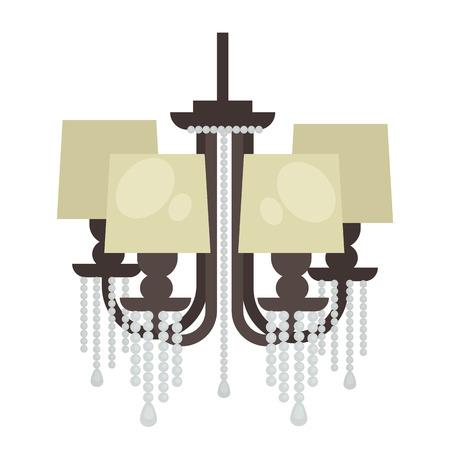 Lampe isolé. la conception de l'éclairage intérieur. lampe électrique. Chandelier Lam lumière décoration intérieure de style moderne et classique.