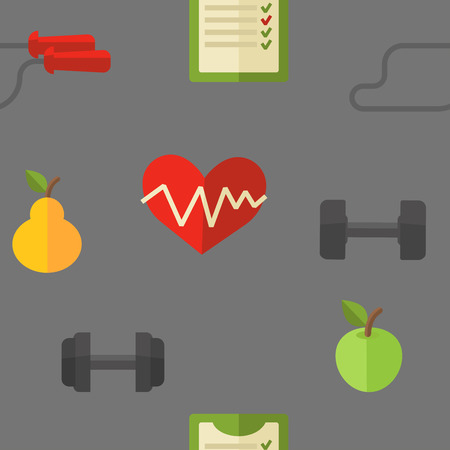 health and fitness: Healthy lifestyle. Vector wellness concept