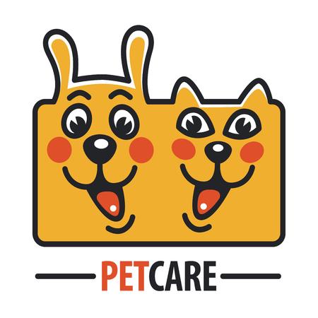 pet cat: Pet Care with Dog, cat Illustration