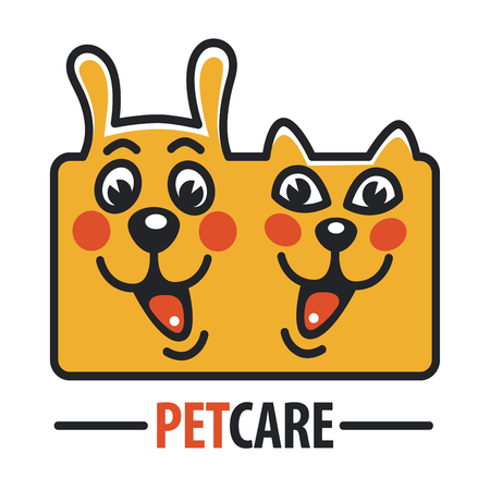 Pet Care with Dog, cat Illustration