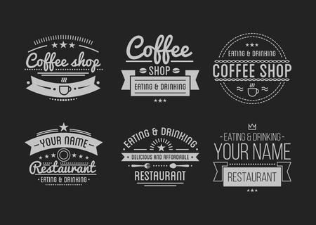 Vintage logo. Coffee shop template. Restaurant label. Logo
