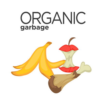 Vector symbol of organic garbage 일러스트