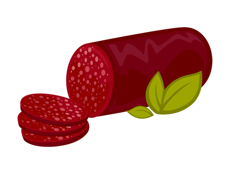 Salami or pepperoni icon.