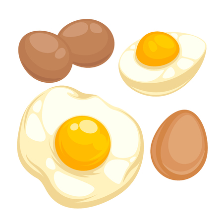 broken eggs: Set with fried, boiled eggs.