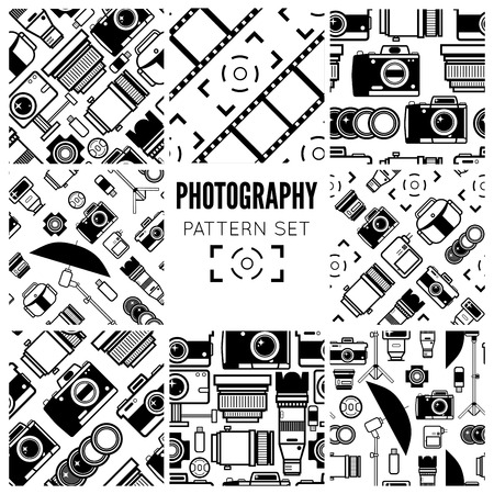 photo: Photography seamless patterns set