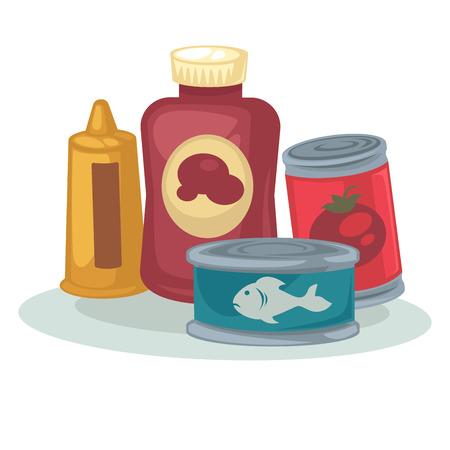 sauce: Mustard, sauce, tomato, tuna canned.