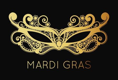 bdsm: Mardi Gras mask of lace background.