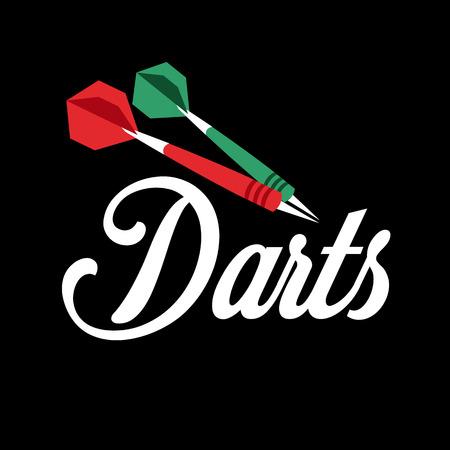 Darts label. Badge Logo sporting symbols