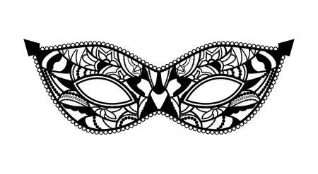 masked: Mardi Gras mask of lace collection set. Illustration