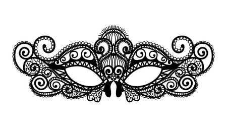 Mardi Gras mask of lace collection set.  イラスト・ベクター素材