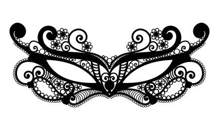 Mardi Gras mask of lace collection set. Illusztráció