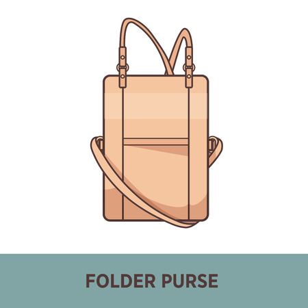 Vector fashion bag isolated on white Illustration