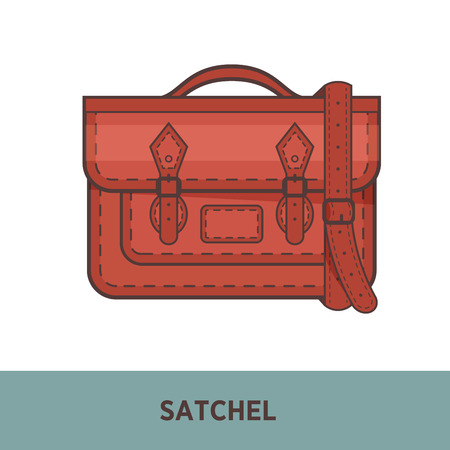 saddlebag: Vector fashion bag isolated on white Illustration