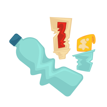 Vector symbol of plastic garbage or trash. Vectores