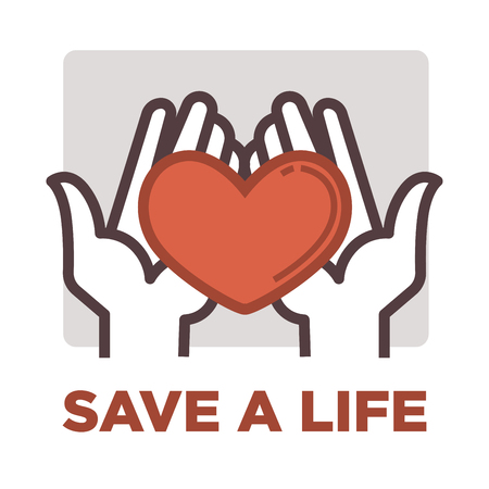medical symbol: Donation and volunteer work icon