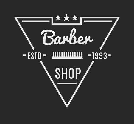 massage symbol: Vintage barber shop logo and beauty spa salon badge. Vector element. Isolated icons on dark background Illustration