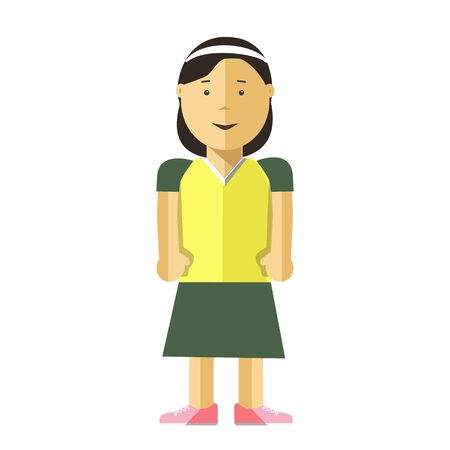 black youth: Woman or young girl vector flat illustration