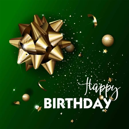 flayer: Happy Birthday greeting card template.