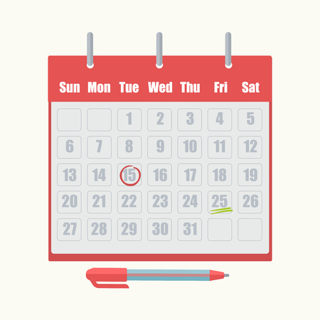 appointment: Calendar appointment date mark vector icon