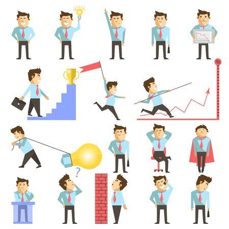 vecor: Businessman and business work vecor illustration Illustration