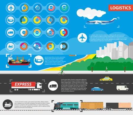 means: Logistics Best Delivery Means of Transportation Illustration