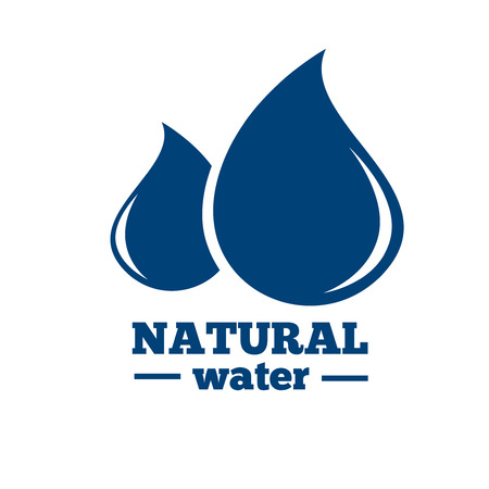 blue abstract: Blue logo. Label for mineral water. Aqua icon Illustration