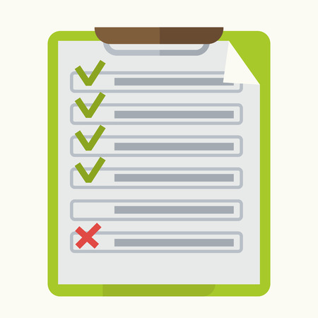 note pad: Check list marks on notepad vector icon Illustration