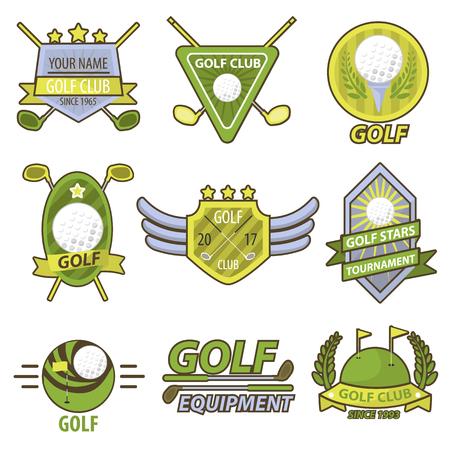 tournament: Golf Game Club Tournament Emblems Vector Banner
