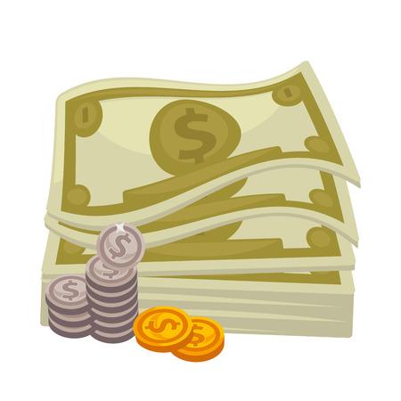 cash money: Big pile of cash. Concept   money.