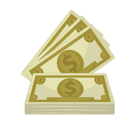 paper currency: Big pile of cash. Concept   money.