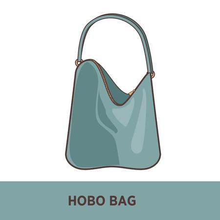 saddlebag: fashion bag isolated on white