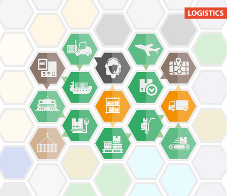 freight train: Logistics shipping infographics or icons template