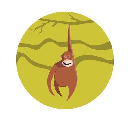 year of snake: Chinese zodiac sign Monkey vector horoscope icon or symbol