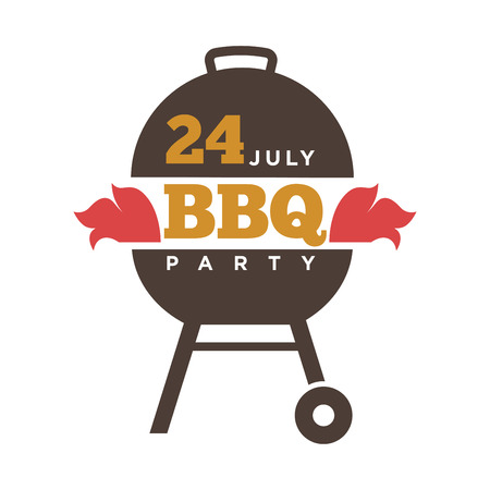 frankfurter: Barbecue or grill party vector icon